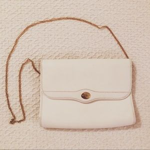 Vintage Christian Dior White Leather Purse